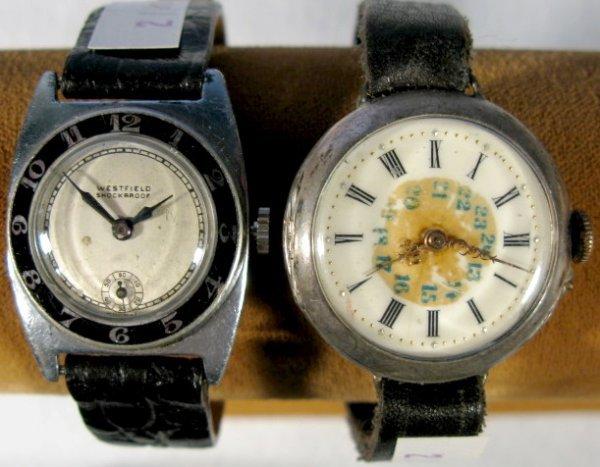 21: Westfield & Unmarked Silver Wrist Watches