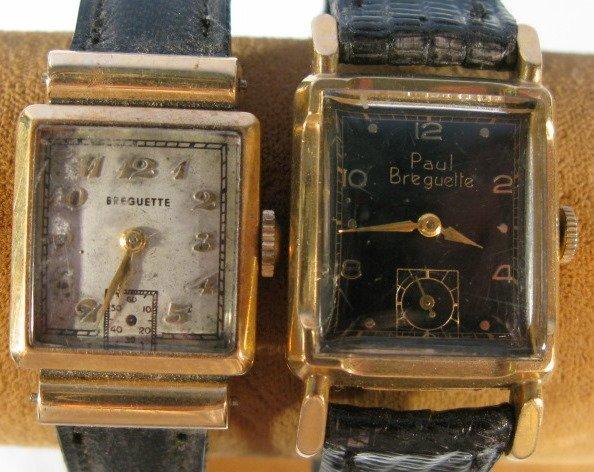 24: 2 P. Breguette 17J Wrist Watches