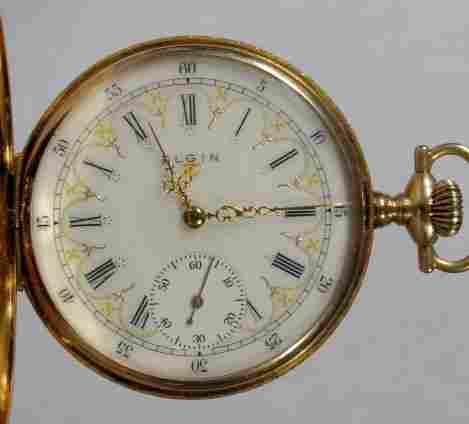 Elgin 17J 14S SW 14K DMK HC Pocket Watch