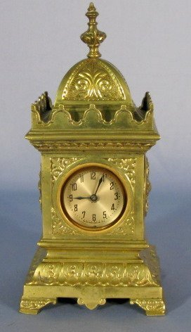 3: New Haven Ornate Brass Shelf Clock