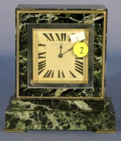 7: Webb C Ball Co. 13J Marble Deco Clock