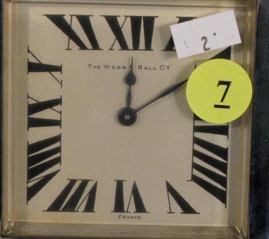 7: Webb C Ball Co. 13J Marble Deco Clock - 2