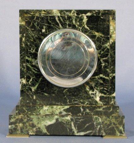 7: Webb C Ball Co. 13J Marble Deco Clock - 3