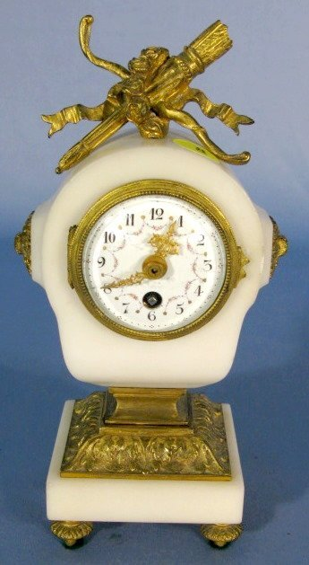 8: French Bronze & Marble Small Shelf Clock