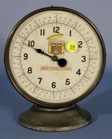 10: One Hand Clock Co. Ormo Coffee Advertising Clock