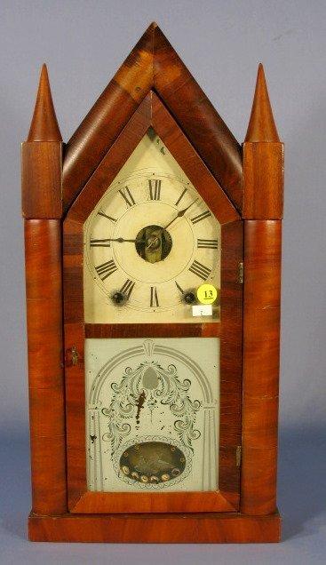 13: Adkins & Porter Time & Strike Steeple Clock
