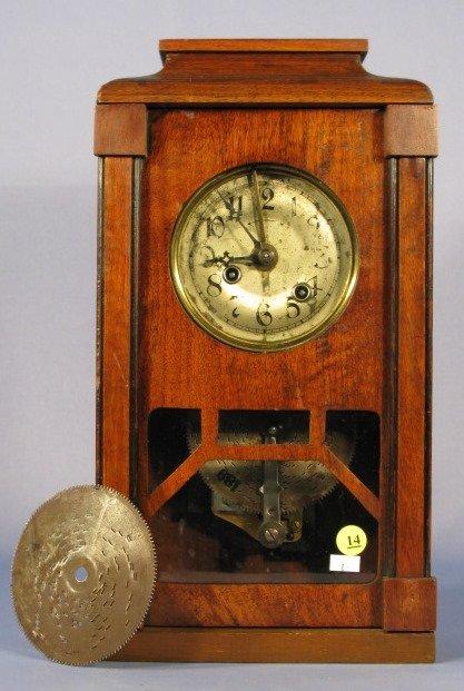 14: German Disc Music Box Shelf Clock