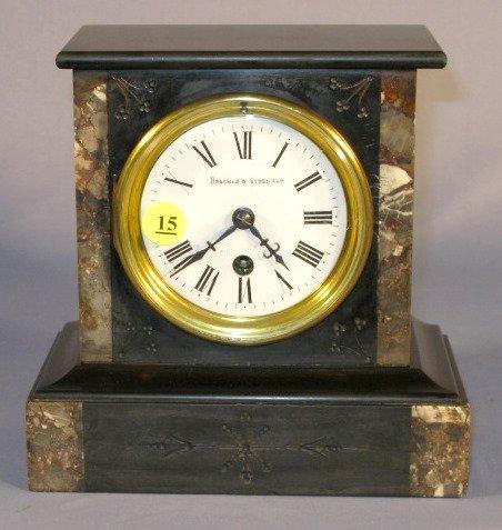 15: Bracher & Sydenham T/O Marble Shelf Clock