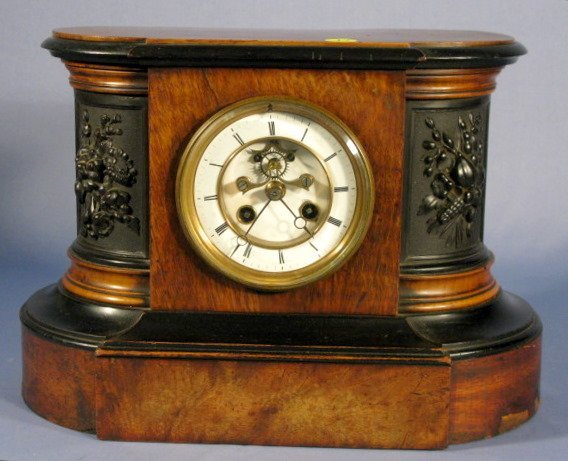 17: French Ornate Carved Mantle Clock