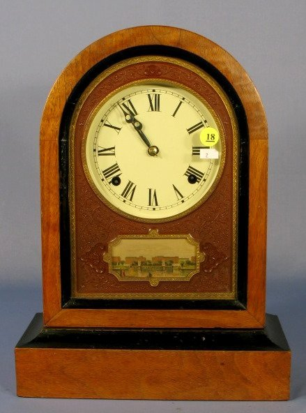 18: Jerome Mantle Clock w/Gouda Percha Front Plate