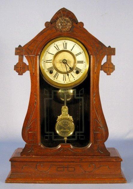 19: George B. Owen Ornate Walnut Parlor Clock