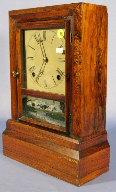 20: Daniel Pratt & Sons Early American Shelf Clock - 6