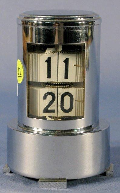 21: Abessi Germany Chrome Deco Digital Desk Clock
