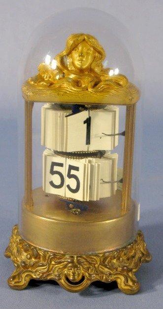 22: Ansonia Art Nouveau Lady Head Digital Dome Clock