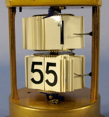 22: Ansonia Art Nouveau Lady Head Digital Dome Clock - 3