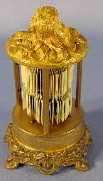 22: Ansonia Art Nouveau Lady Head Digital Dome Clock - 5