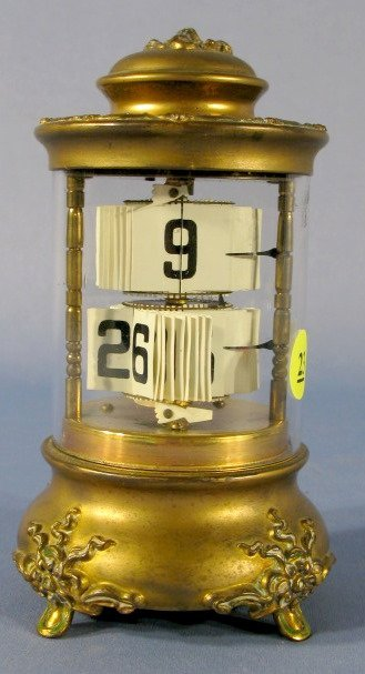 23: Plato Floral Case Digital Dome Clock