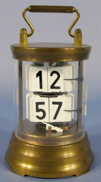 24: Horolovar Co. 7J Brass Digital Clock