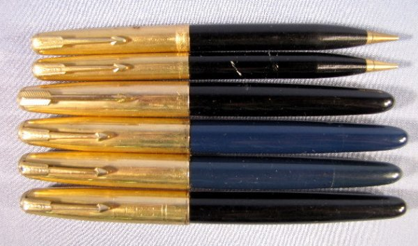 """5: 6 """"Parker 51"""" Pens & Pencils"""