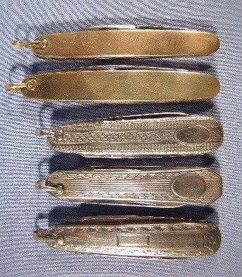8: 5 Pen Knives w/10K or 14K Handles