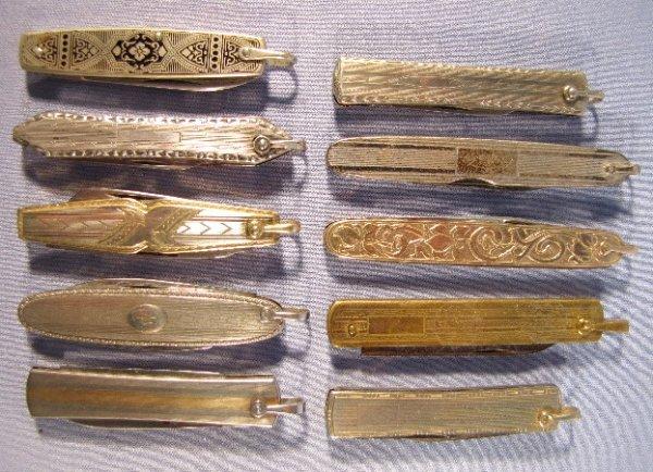 10: 10 Pen Knives, 2 Marked Sterling
