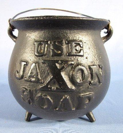 16: Cast Iron Jaxon Soap String Holder