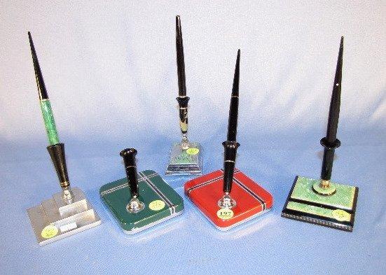 197: 5 Art Deco Pen Holders