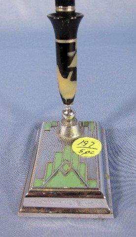 197: 5 Art Deco Pen Holders - 4