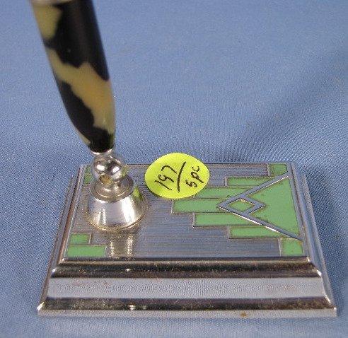 197: 5 Art Deco Pen Holders - 5