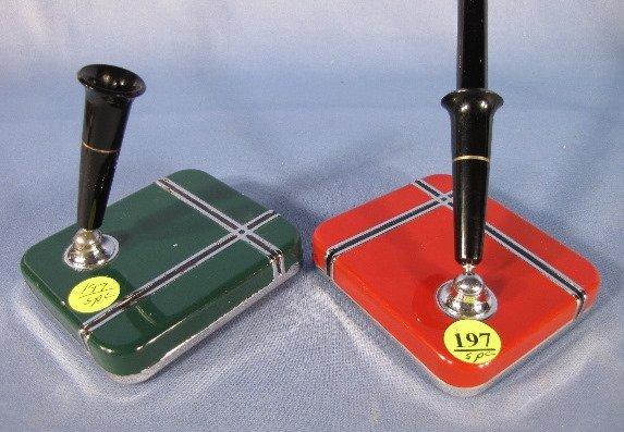 197: 5 Art Deco Pen Holders - 6
