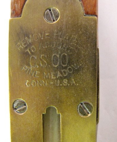 306: C.S. Co. Brass & Wood Level, Pine Meadow, Conn. - 5