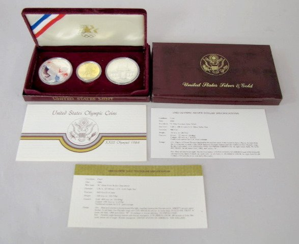 324: U.S. 1984 Olympics Gold & Silver Set