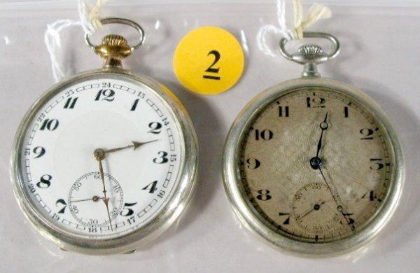 2: 2 Swiss 7-11J 12-16S Pocket Watches