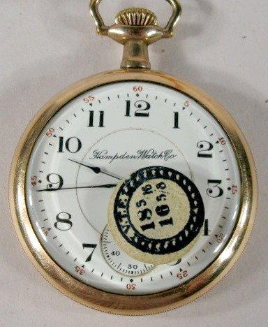 7: Hampden #109 15J 16S OF Pocket Watch