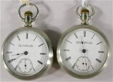 16: 2 Elgin G.M. Wheeler 15J 18S Pocket Watches