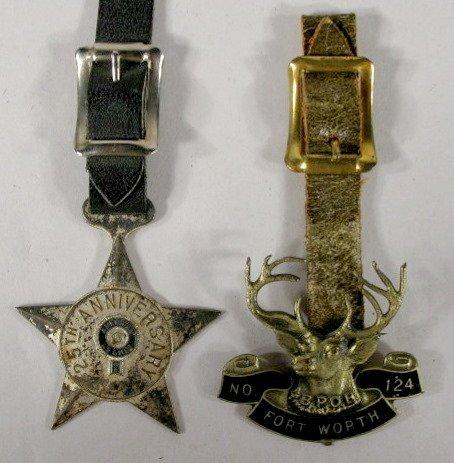 24: 2 Lodge Watch Fobs, American Legion & BPOE