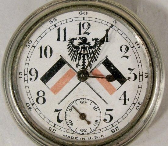 339: 1910 Kaiser Wilhelm II Commemorative Pocket Watch - 2