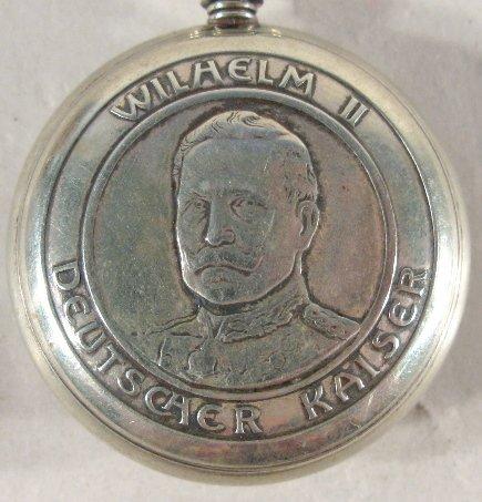 339: 1910 Kaiser Wilhelm II Commemorative Pocket Watch - 3