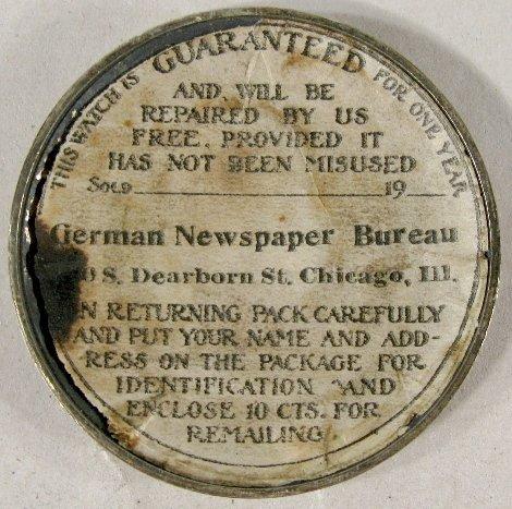 339: 1910 Kaiser Wilhelm II Commemorative Pocket Watch - 4