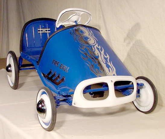 3017: Murray Tot Rod Racer Pedal Car Fireball NR