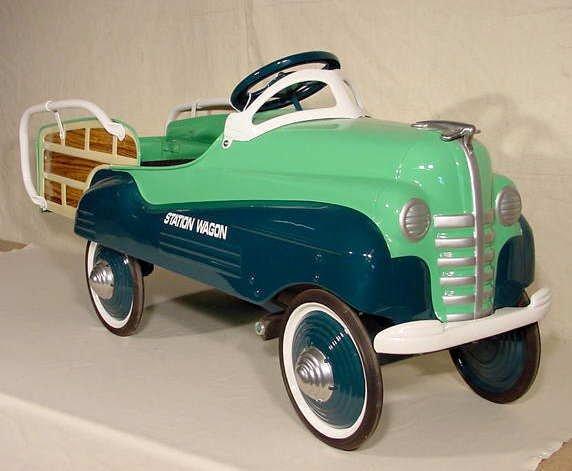 3046: Restored Pontiac Station Wagon Pedal Car NR