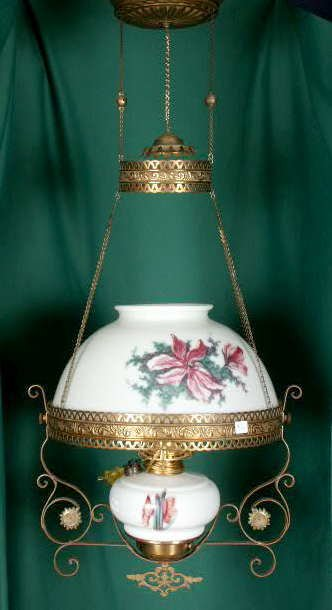 3009A: Married Florals Shade & Font Hanging Lamp NR