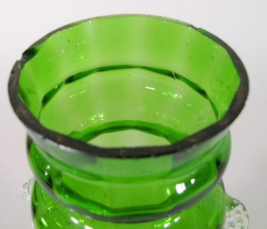 5: 3 Mary Gregory Green/Clear Vases - 3