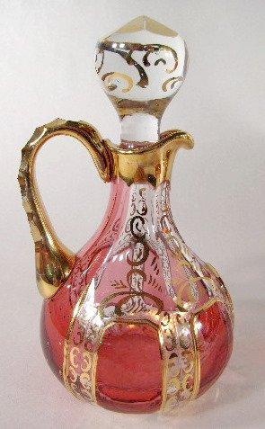 16: 6 Glass Items w/Cranberry Panels - 2