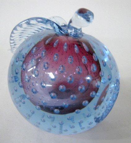 21: Murano Glass Pear & Apple - 2