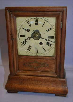 Rare Wood Works Cottage with Alarm Clock