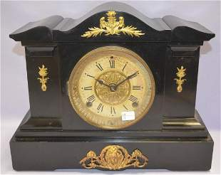 Antique Seth Thomas Enameled Wood Mantel Clock