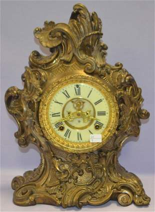 """Antique Ansonia """"Rococo"""" Ornate Mantel Clock"""