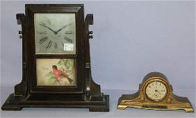 Lot of 2 Seth Thomas & Waterbury Desk Clock