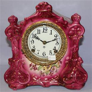 "Antique Ansonia ""Warlock"" porcelain Mantle"